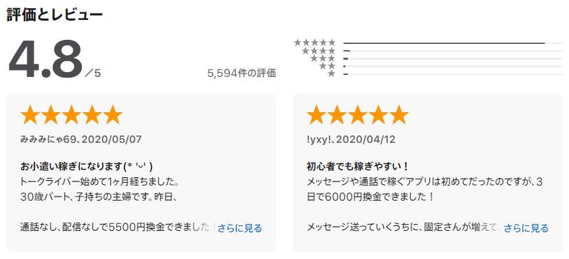 トークライバー口コミ・評判
