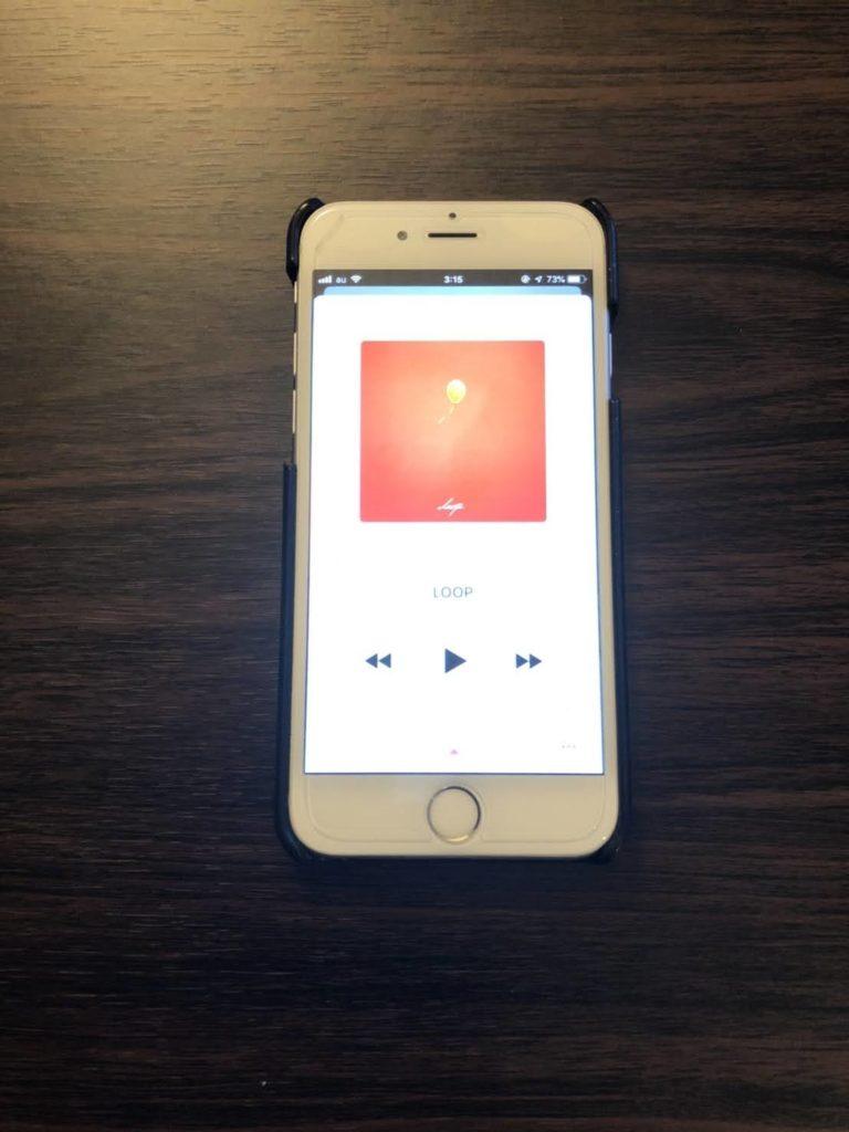 配信器材BGM用iPhone